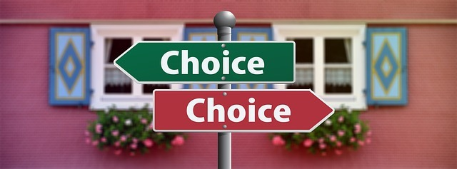 choice, select, decide