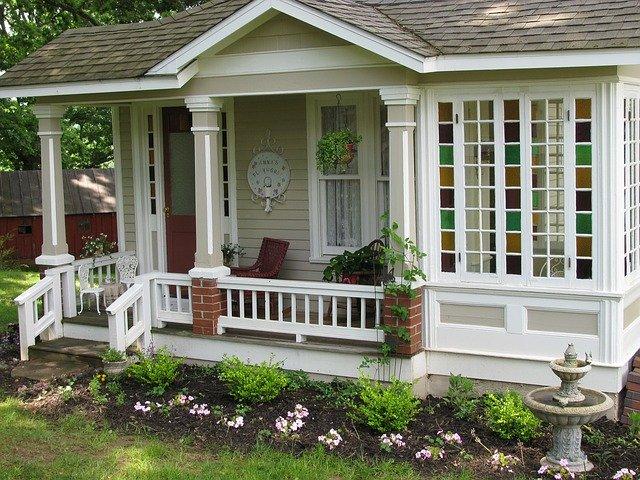 architecture, cottage, exterior