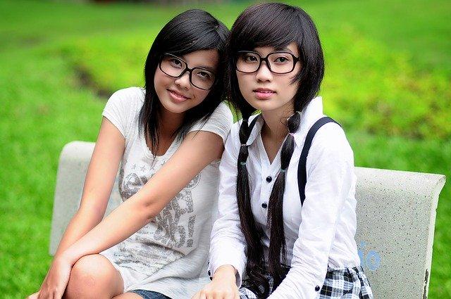 girl, student, asian