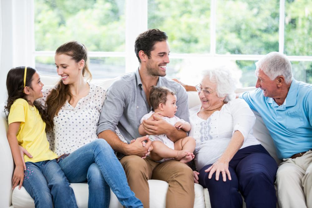 Grandparents with Their Children and Grandchildren
